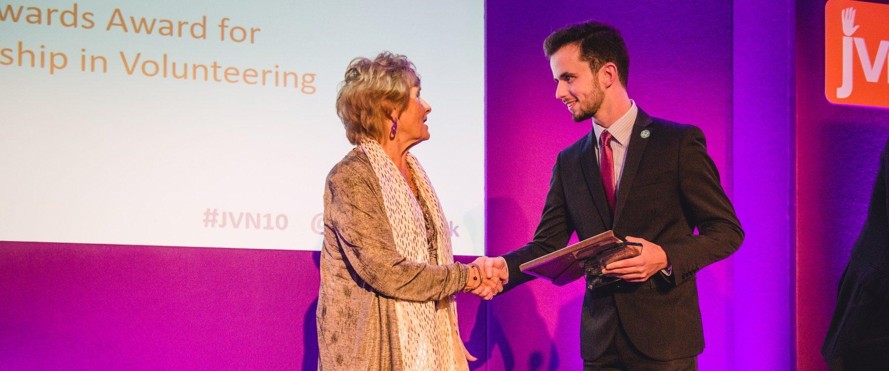 our development coordinator honoured with national volunteering award